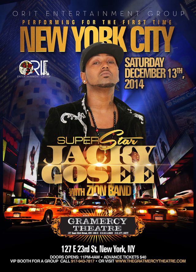 Ethiopian Music Star Jacky Gosee's Debut New York Concert on Dec 13th