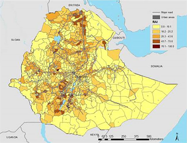 Just Follow the Roads in Ethiopia to Find Unequal