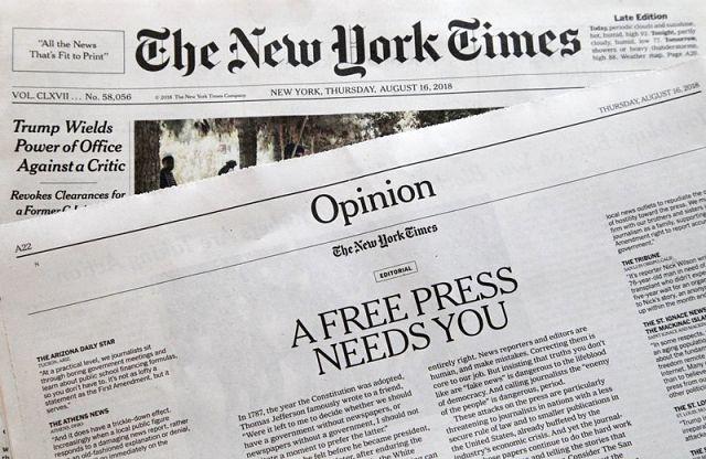 Hundreds of Newspapers Respond to Anti-Media Rhetoric — AP 807512b3a265