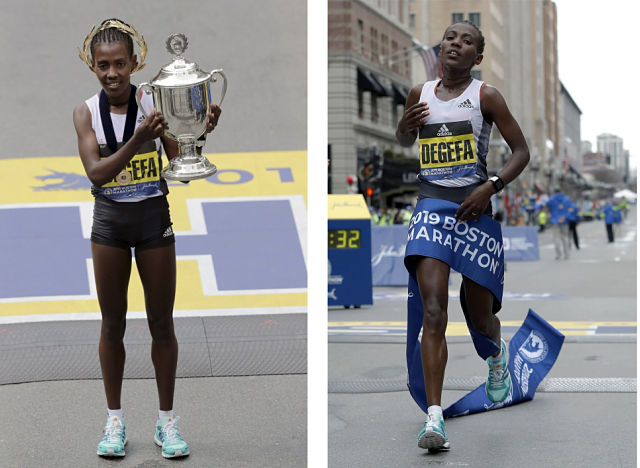 3e9f0fea9f63 Worknesh Degefa wins the women s division of the 123rd Boston Marathon on  Monday